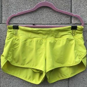 Lululemon Neon Green Running Shorts